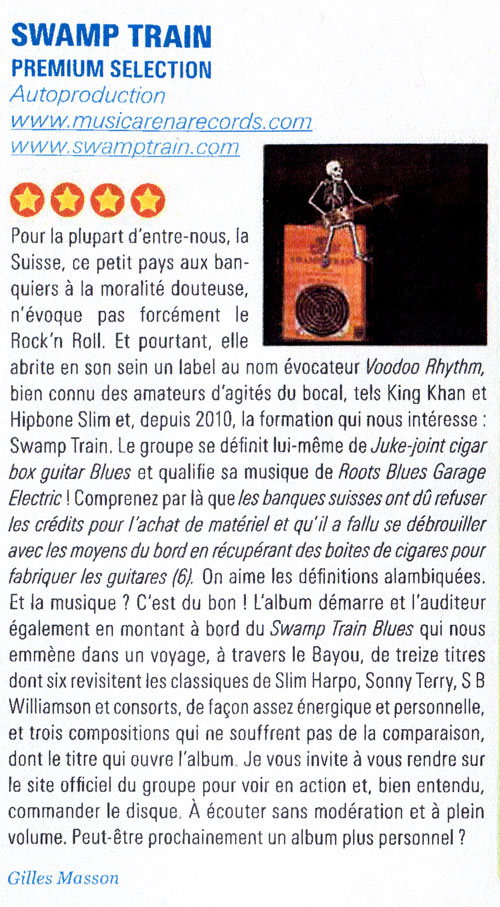 Premium Selection revue Blues Magazine N° 66 Sep. 2012
