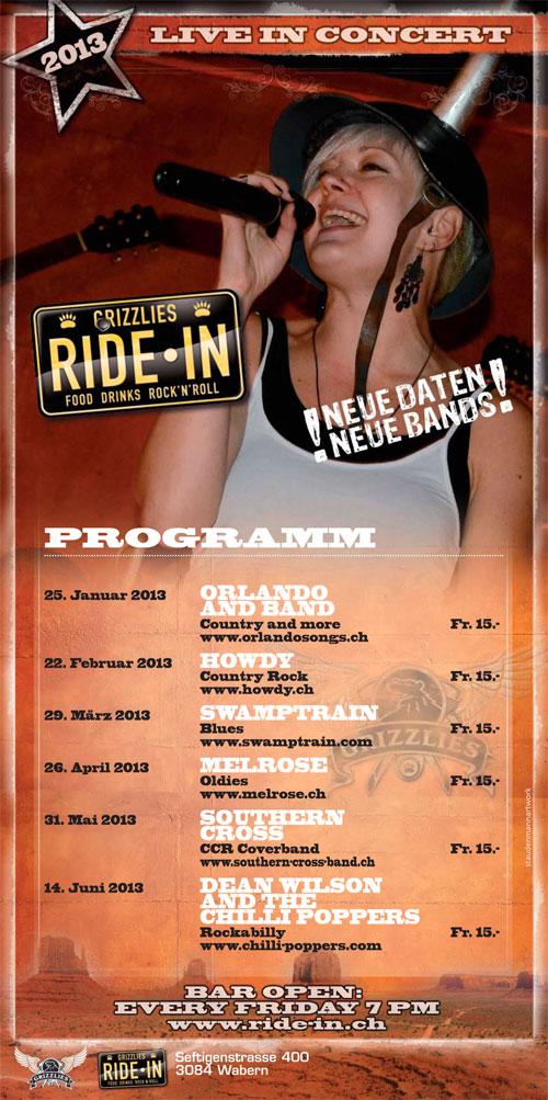 the Ride-In's spring 2013 program