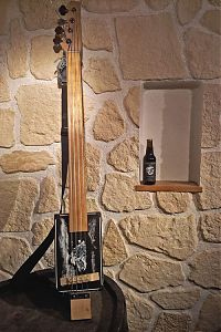 An all new cigar box bass for Jus'kin