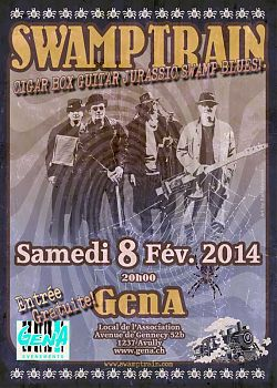 Flyer for Swamp Train at GenA, Feb 2014