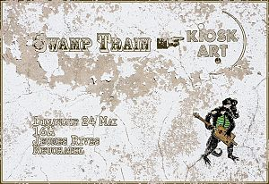 flyer Swamp Train @ Kiosk-Art 24 mai 2015