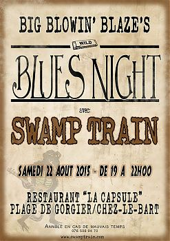 Poster for BBBs Blues Night at Chez-le-Bart