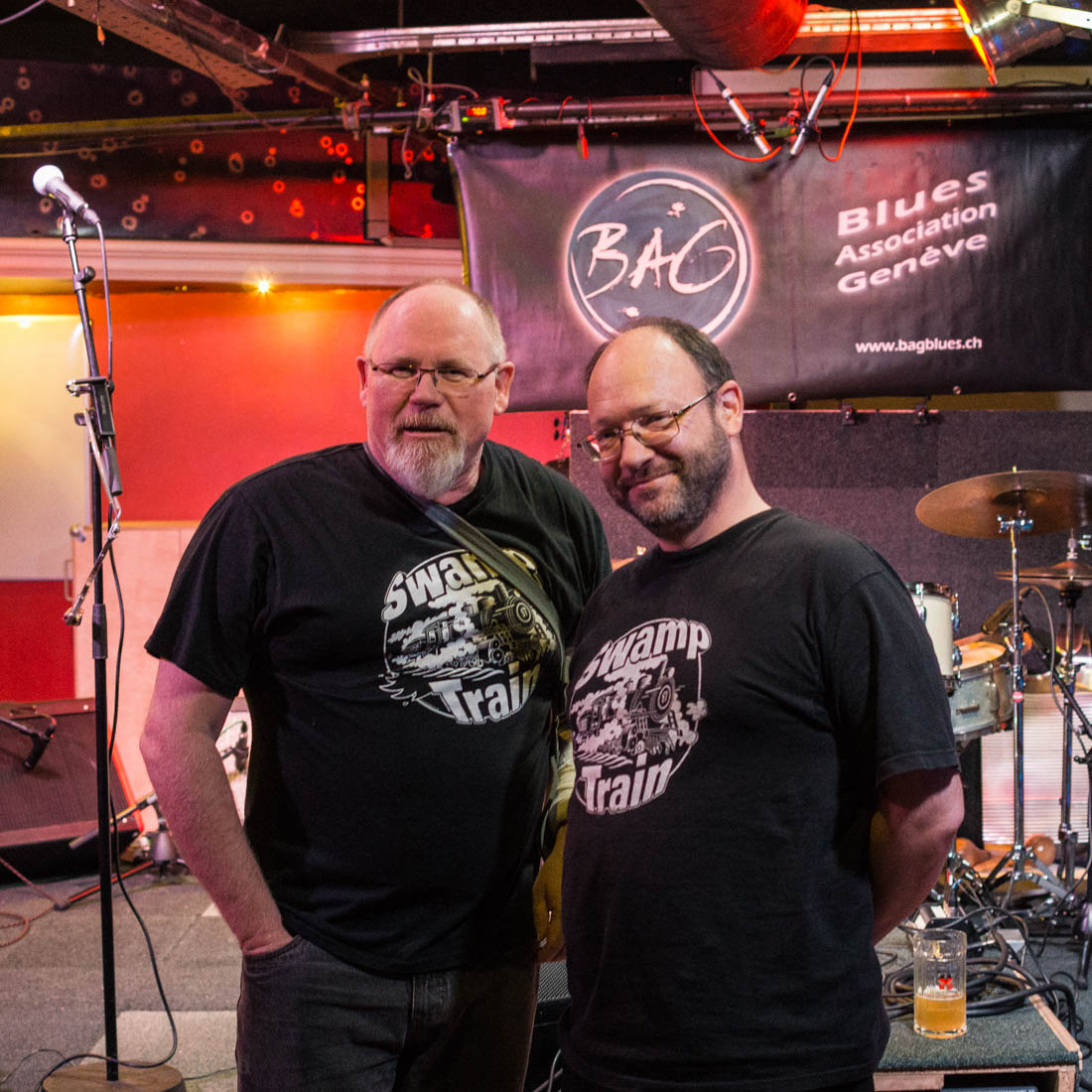 Christophe et Jean-christophe with Swamp Train t-shirts