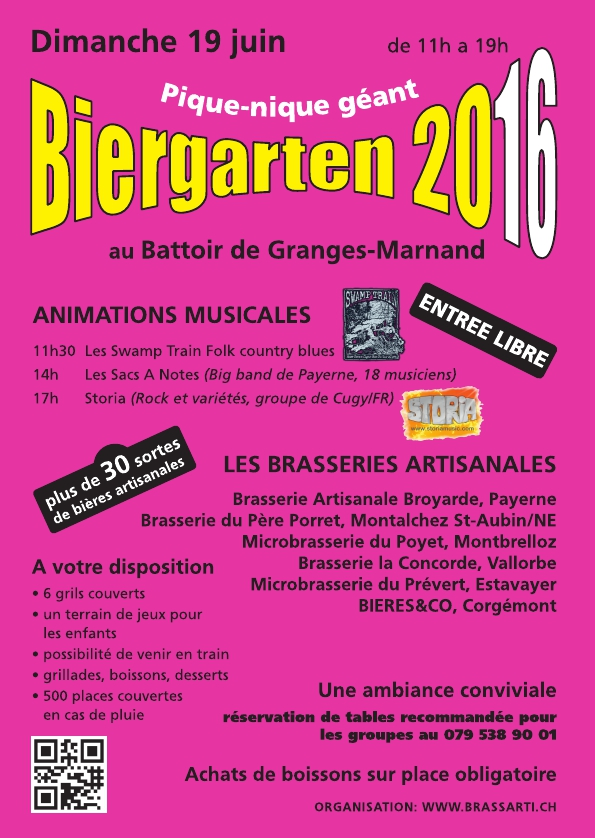 Biergarten 2016 Flyer